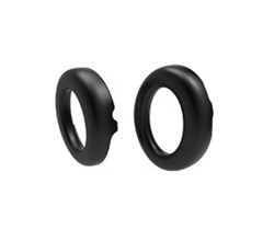Zik Spare Parts parrot zik 3 spare part ear cushions black leather grain